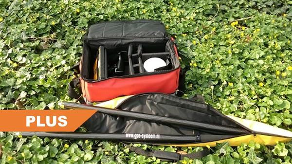 Geopende tassen van Plus GPS systeem