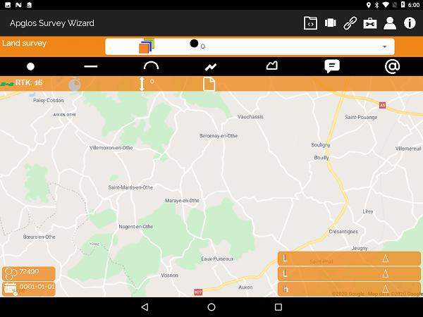 GPS nauwkeurigheidsbeveiliging in Apglos Survey Wizard