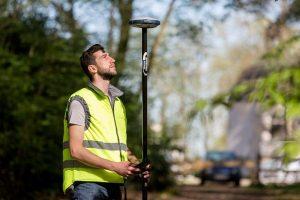 GPS inmeten, het begin en eind van elk project