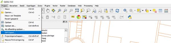 QGIS DXF exporteren