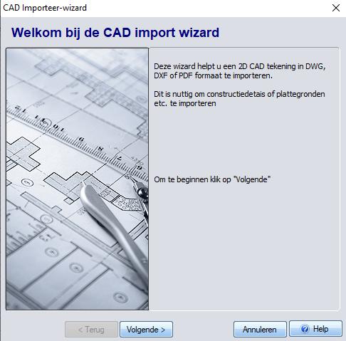 DXF importeerscherm- 3D TUIN Designer