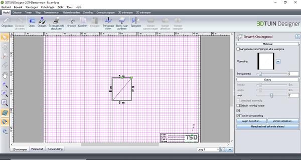 DXF in 3D TUIN Designer