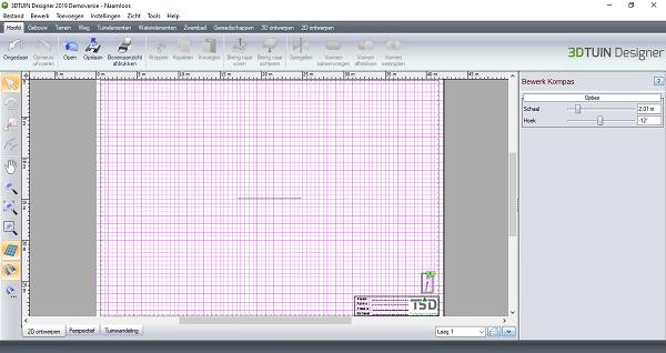 Noordpijl selectie in 3D TUIN Designer