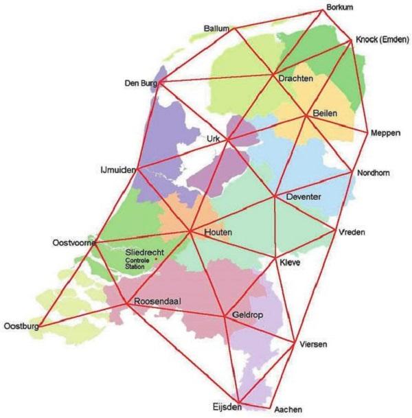 RTK netwerk referentiestations
